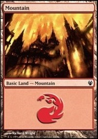 Mountain (44) card from Duel Decks: Izzet vs. Golgari