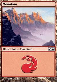 Mountain (244) card from Magic 2014 Core Set