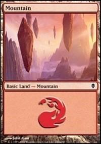 Mountain (242a) card from Zendikar
