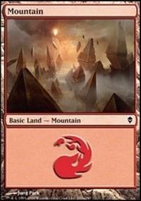 Mountain (243a) card from Zendikar