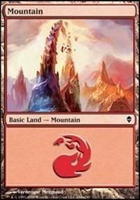 Mountain (244a) card from Zendikar
