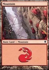 Mountain (245a) card from Zendikar