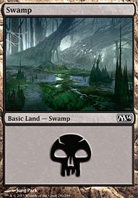 Swamp (240) card from Magic 2014 Core Set