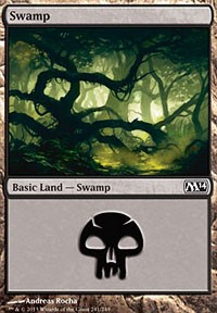 Swamp (241) card from Magic 2014 Core Set