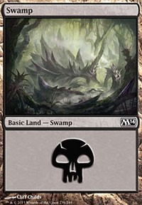 Swamp (238) card from Magic 2014 Core Set