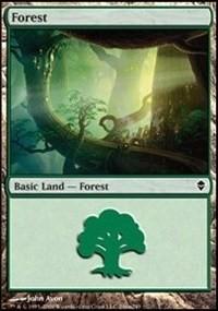 Forest (246a) card from Zendikar