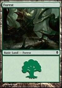Forest (247a) card from Zendikar