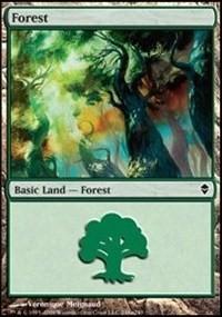 Forest (248a) card from Zendikar