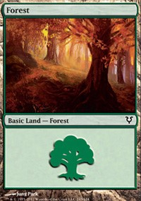 Forest (243) card from Avacyn Restored