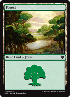 Forest (307) card from Commander 2017