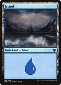 Island (299) card from Commander 2017
