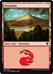 Mountain (304) card from Commander 2017