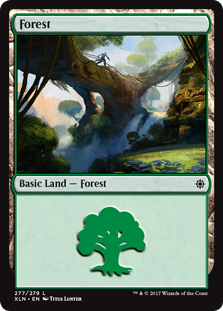 Forest (277) card from Ixalan