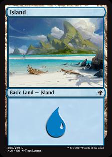 Island (265) card from Ixalan