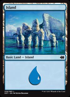 Island (29) card from Duel Decks: Merfolk vs. Goblins