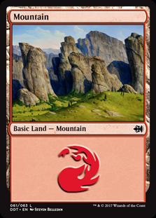 Mountain (61) card from Duel Decks: Merfolk vs. Goblins