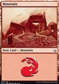 Mountain (197) card from Hour of Devastation