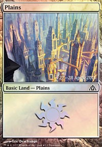 Plains (Dragon's Maze) card from Prerelease Cards