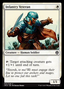 Infantry Veteran card from Iconic Masters