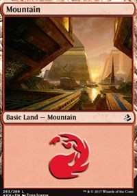 Mountain (265) card from Amonkhet