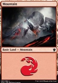 Mountain (261) card from Dragons of Tarkir