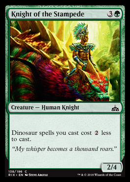 Knight Of The Stampede Rix 0 21 0 44 From Mtg Rivals