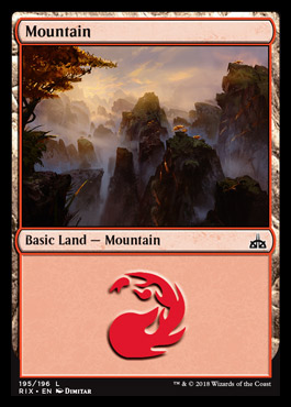 Mountain card from Rivals of Ixalan