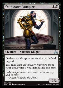 Oathsworn Vampire original card image
