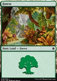 Forest (278) card from Ixalan