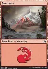 Mountain (265) card from Khans of Tarkir
