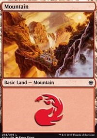 Mountain (274) card from Ixalan