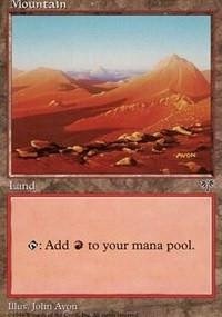 Mountain (Orange) card from Mirage