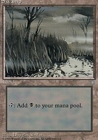 Swamp (354) card from Ice Age