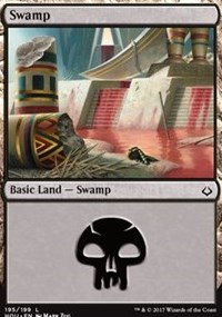 Swamp (195) card from Hour of Devastation