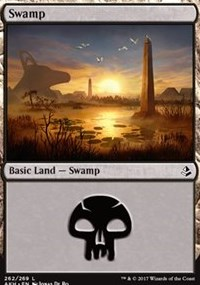 Swamp (262) card from Amonkhet