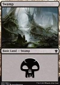 Swamp (257) card from Dragons of Tarkir