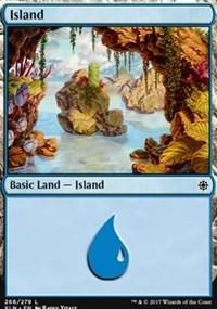 Island (266) card from Ixalan