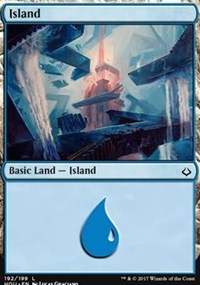 Island (192) card from Hour of Devastation