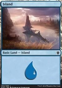 Island (254) card from Khans of Tarkir