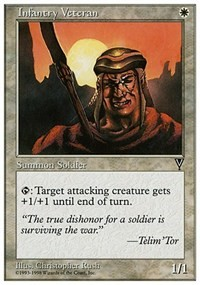 Infantry Veteran card from Anthologies