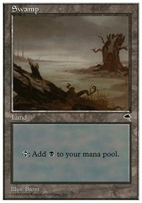 Swamp (Tempest) card from Anthologies