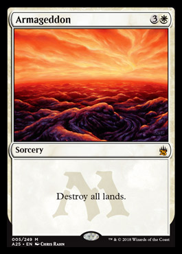 Armageddon card from Masters 25