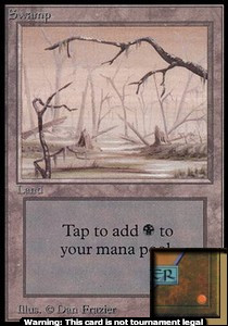Swamp (B) (CE) card from Collector's Edition