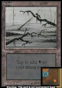 Swamp (C) (CE) card from Collector's Edition