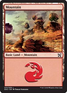 Mountain (75) card from Duel Decks: Elves vs. Inventors
