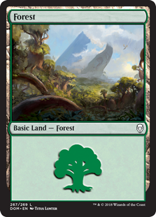 Forest (267) card from Dominaria