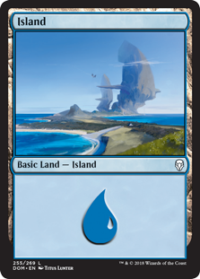 Island (255) card from Dominaria