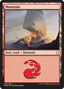 Mountain (263) card from Dominaria
