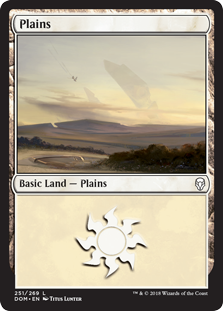 Plains (251) card from Dominaria