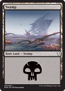 Swamp (259) card from Dominaria